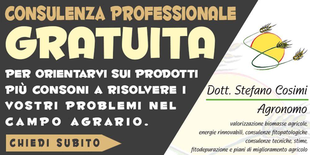consulenza gratuita problemi nel campo agrario dott. agr. Stefano Cosimi